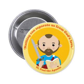 San Pablo el apóstol Pin Redondo De 2 Pulgadas