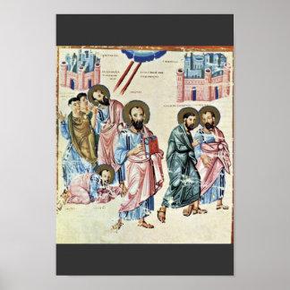 San Pablo en el camino a Damasco de Meister Nach C Posters