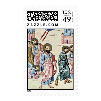 San Pablo en el camino a Damasco de Meister Nach C Sello Postal