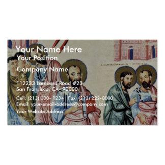San Pablo en el camino a Damasco de Meister Nach C Plantillas De Tarjetas Personales