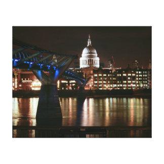 San Pablo en la noche - Londres Impresion De Lienzo