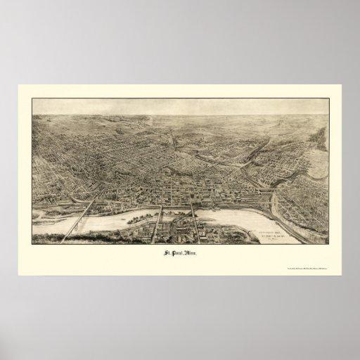 San Pablo, mapa panorámico del manganeso - 1906 Poster