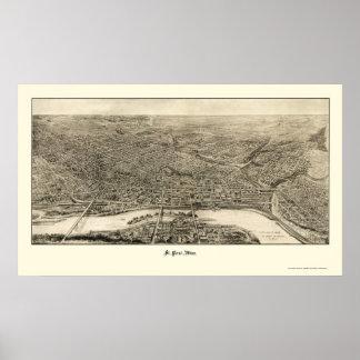 San Pablo, mapa panorámico del manganeso - 1906 Póster