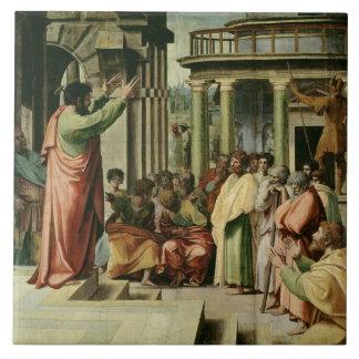 San Pablo que predica en Atenas (dibujo animado pa Azulejo Cuadrado Grande