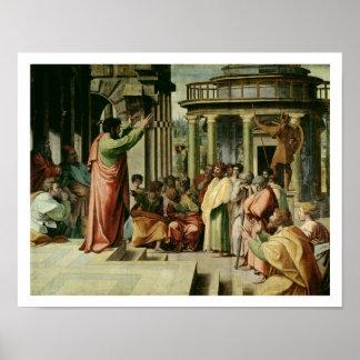 San Pablo que predica en Atenas (dibujo animado pa Póster