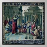 San Pablo que predica en el Areopagus Posters