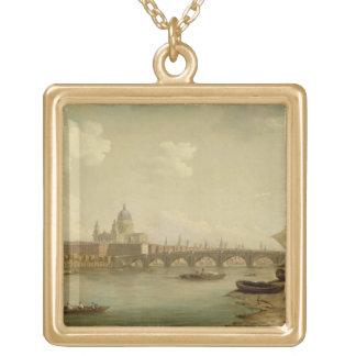 San Pablo y puente de Blackfriars, Londres, c.1770 Colgante Cuadrado