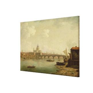San Pablo y puente de Blackfriars, Londres, c.1770 Impresión En Lienzo
