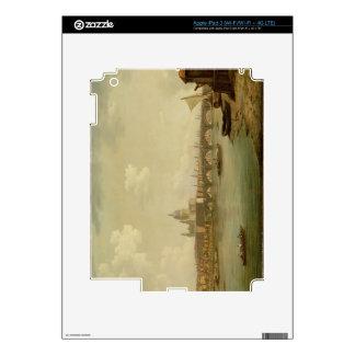 San Pablo y puente de Blackfriars, Londres, c.1770 iPad 3 Pegatina Skin
