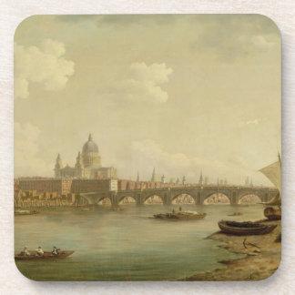 San Pablo y puente de Blackfriars, Londres, c.1770 Posavasos De Bebida