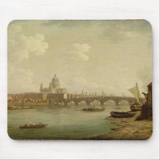 San Pablo y puente de Blackfriars, Londres, c.1770 Tapetes De Ratón