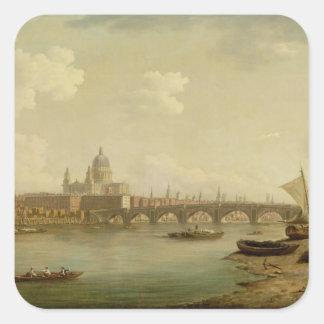 San Pablo y puente de Blackfriars, Londres, Pegatina Cuadrada