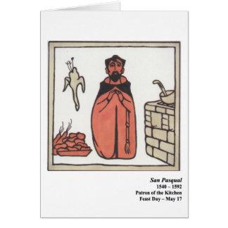 San Pasqual Santo Card