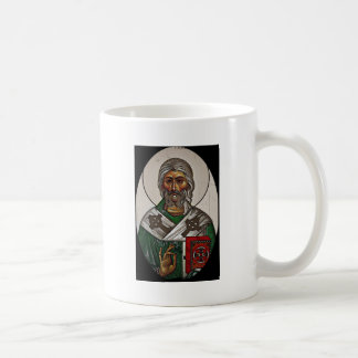 San Patricio con escritura santa Taza De Café
