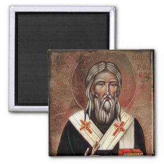 San Patricio con la mano aumentada Imán Cuadrado