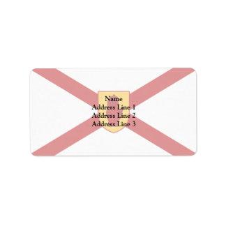 San Patricio para el escudo de oro de Irlanda del Etiqueta De Dirección