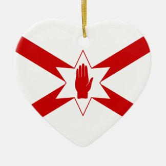 San Patricio para la bandera de Irlanda del Norte Ornamentos De Reyes Magos