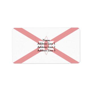 San Patricio para la bandera de Irlanda del Norte Etiquetas De Dirección