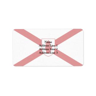 San Patricio para la bandera del escudo de Irlanda Etiquetas De Dirección