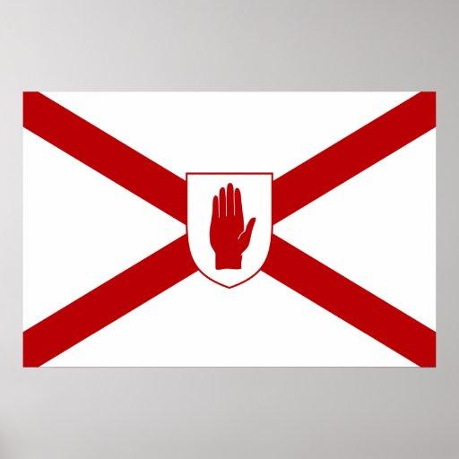 San Patricio para la bandera del escudo de Irlanda Póster