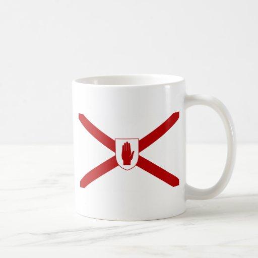 San Patricio para la bandera del escudo de Irlanda Taza De Café