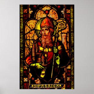 San Patricio - retrato Póster