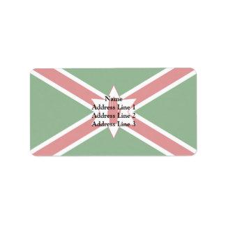 San Patricio unido para la bandera de Irlanda del Etiqueta De Dirección