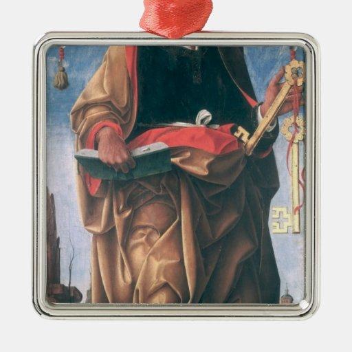 San Pedro Adorno Cuadrado Plateado