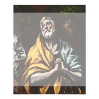 """San Pedro arrepentido de El Greco Folleto 4.5"""" X 5.6"""""""