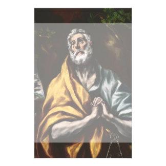 """San Pedro arrepentido de El Greco Folleto 5.5"""" X 8.5"""""""