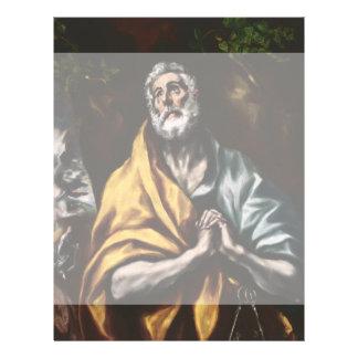 """San Pedro arrepentido de El Greco Folleto 8.5"""" X 11"""""""