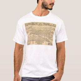 San Pedro, CA. Panoramic Map 1895 (1319A) T-Shirt