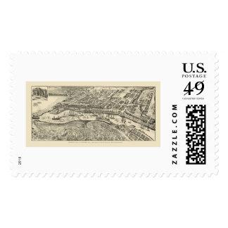 San Pedro, CA Panoramic Map - 1905 Postage