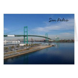 San Pedro, California Tarjeta Pequeña