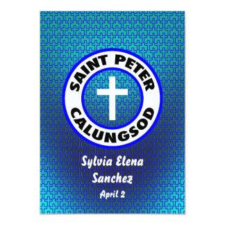 San Pedro Calungsod invita Invitación 12,7 X 17,8 Cm