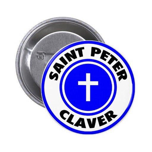 San Pedro Claver Pin Redondo 5 Cm