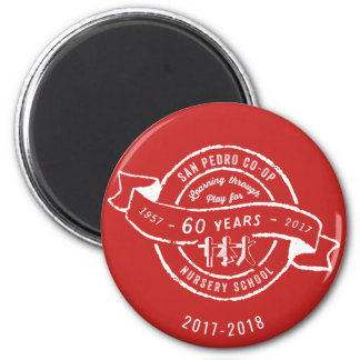 San Pedro Co-Op Nursery School 60th Anniversary Magnet