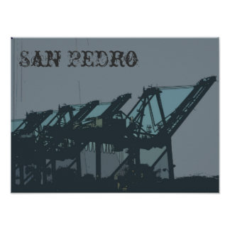 San Pedro Cranes Poster