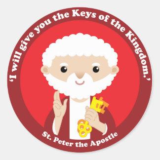 San Pedro el apóstol Etiqueta Redonda
