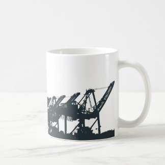 San Pedro Harbor Cranes Coffee Mug