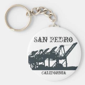 San Pedro Harbor Cranes Keychain