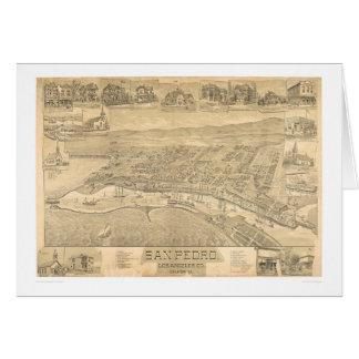 San Pedro, mapa panorámico 1895 (1319A) del CA Tarjeta De Felicitación