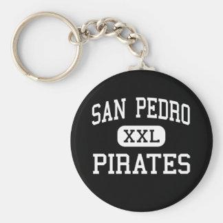 San Pedro - piratas - alto - San Pedro California Llaveros Personalizados