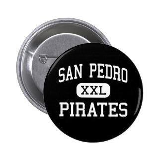 San Pedro - piratas - alto - San Pedro California Pin Redondo De 2 Pulgadas