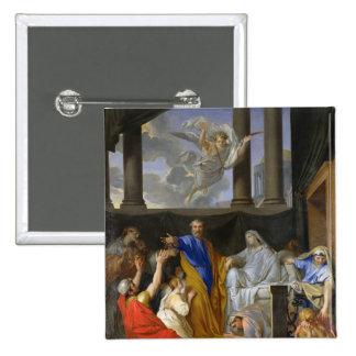 San Pedro que resucita a la viuda Tabitha, 1652 Pin Cuadrado