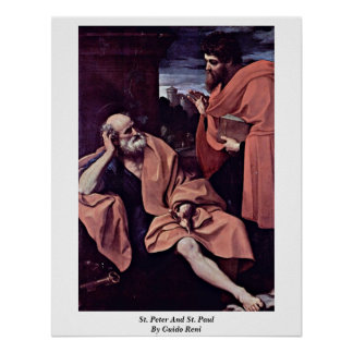 San Pedro y San Pablo de Guido Reni Póster