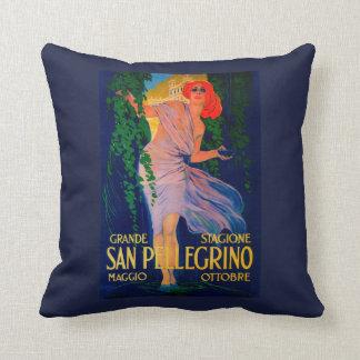 San Pellegrino Vintage PosterEurope Throw Pillow