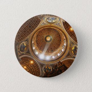 San Pietro basilica interior in Rome, Italy Pinback Button