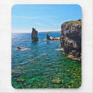 San Pietro island - Le Colonne Mouse Pad