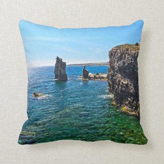 San Pietro island - Le Colonne Throw Pillow